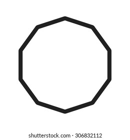 Geometric, decagon, design icon vector image. Can also be used for shapes and geometry. Suitable for use on web apps, mobile apps and print media.