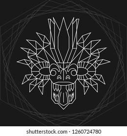 Geometric Demon, Traditional Sri Lankan Mask, Yaka