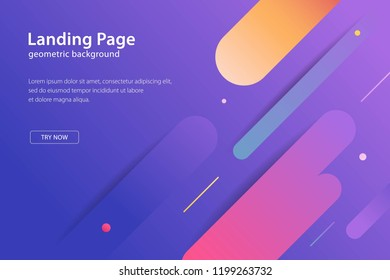Geometric design background modern template landing page, banners and futuristic posters