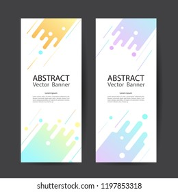 Geometric design banner web template vector abstract.