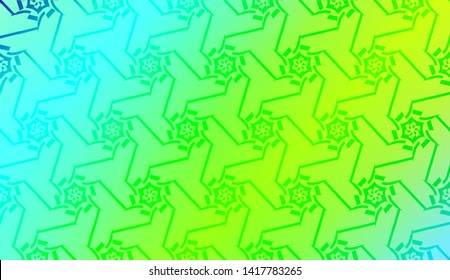 Geometric design pattern with Blurred Background, Smooth Gradient Texture Color. Vector Illustration
