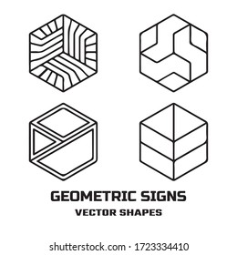 Geometric design vector sign or symbol for you