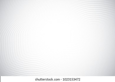 Geometric dot mesh gradient Background.Gradient white color for halftone.Creative design dynamic modern template.Minimal business cover decoration wallpaper.Graphic smooth wave.vector illustration