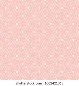 Geometric dotted vector pattern. Seamless abstract pink and white modern texture for wallpapers and backgrounds