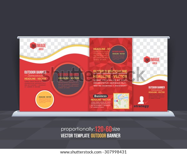 Geometric Elements Outdoor Advertising Design, Horizontal Banner, Background Template