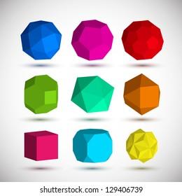 Geometric elements set