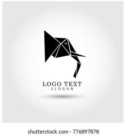Geometric Elephant Symbol & Icon Logo Vector Template