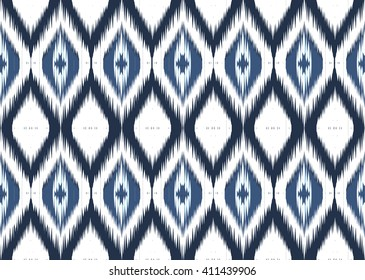 Geometric ethnic oriental ikat pattern traditional Design for background,carpet,wallpaper,clothing,wrapping,fabric,Vector illustration.embroidery style.