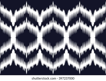 Geometric ethnic oriental ikat seamless pattern traditional Design for background,carpet,wallpaper,clothing,wrapping,Batik,fabric,Vector illustration.embroidery style