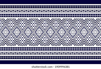 Geometric ethnic oriental seamless pattern traditional Design for background,carpet,wallpaper.clothing,wrapping,Batik fabric,Vector illustration.embroidery style.