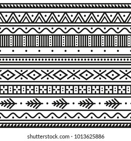 Geometric ethnic pattern. Border. Wrapping paper.