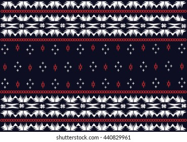 Geometric ethnic pattern design for background or wallpaper and clothing.