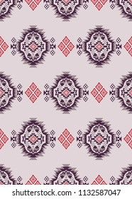 Geometric Ethnic tile motifs pattern for textile pattern,fashion print,carpet pattern