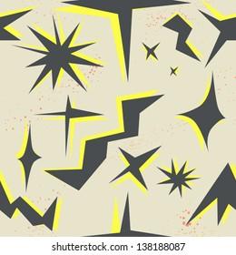 geometric fancy seamless pattern with stars