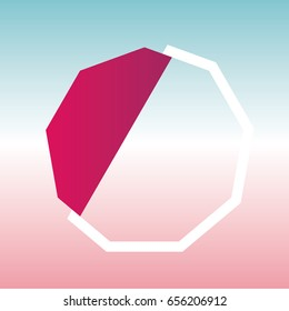 geometric figure nonagon logo vector