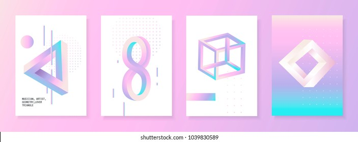 Geometric figures with Penrose triangle effect