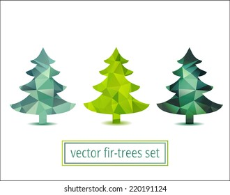 Geometric fir-trees