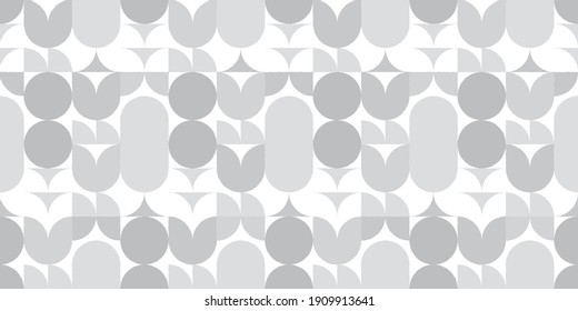 Geometric floral background. Seamless pattern.Vector.