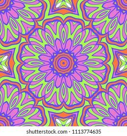 Geometric floral ornament. seamless art-deco pattern. vector illustration. for design, wallpaper, invitation.