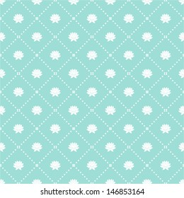 Geometric floral pattern. Seamless vector background with pastel colors.