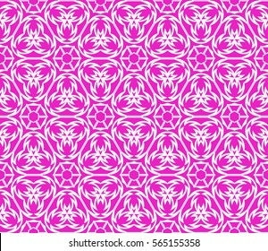 geometric floral seamless pattern background. Luxury texture for wallpaper, invitation. Vector illustration.