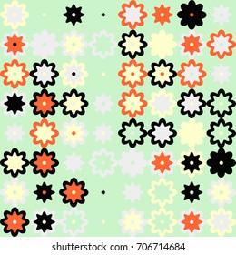 geometric florsl pattern design