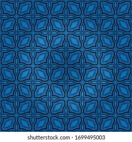 geometric flower. floral seamless pattern. vector illustration. for interior design, invitation, wallpaper, textile.