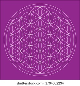 geometric flower of life for your design