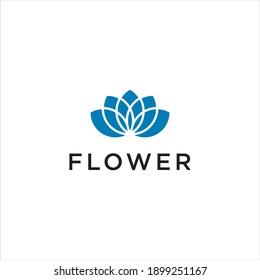Geometric Flower Logo,Abstract Lotus Vector
