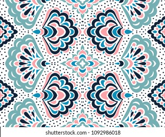 Geometric folklore ornament. Tribal ethnic vector texture. Seamless striped pattern with sea shells. Figure tribal embroidery. Indian, Scandinavian, Gypsy, Mexican, folk pattern.