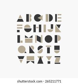 geometric font design