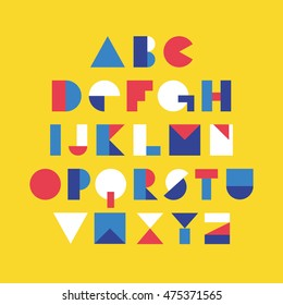 Geometric font design. Vector illustration.