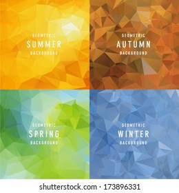 Geometric four Seasons Backgrounds