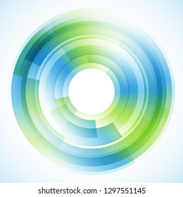 Geometric frame from circles, vector abstract background, wallpaper