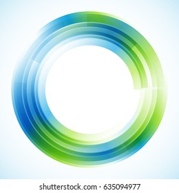 Geometric frame from circles, vector abstract background