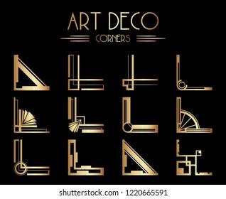 Geometric Gatsby Art Deco Corner or Frame Design