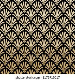 Geometric Gatsby Art Deco Pattern Background Design