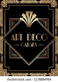 Geometric Gatsby Art Deco Print Frame Design