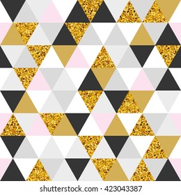 Geometric gold marble seamless pattern background. Color abstract texture for flyer, poster, marketing, card, banner, web header. Sale, advertising, pack. Colorful backdrop, shopping marketing.