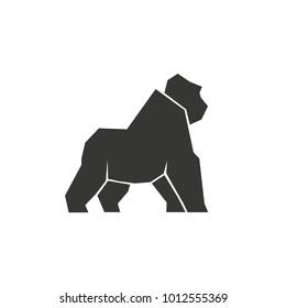 Geometric gorilla icon