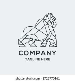 geometric gorilla logo. suitable for your company.