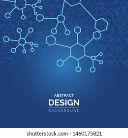 Geometric graphic background molecule and communication