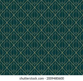 Geometric green seamless high resolution pattern