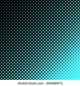 Geometric halftone dot pattern background - vector graphic design from circles in varying sizes
