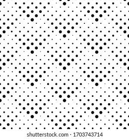 Geometric halftone dot style seamless pattern design