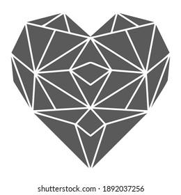 Geometric heart for cricut, pattern, wedding, card.