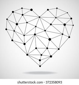 Geometric heart. Vector illustration. Eps10