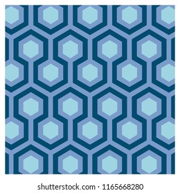 Geometric hexagon background for a vintage wallpaper