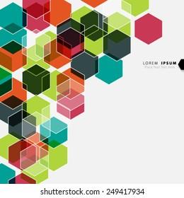 Geometric Hexagonal Shapes Background