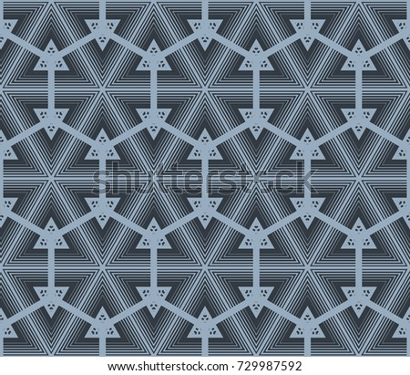 Geometric Hipster Triangle Seamless Pattern Vector Stock